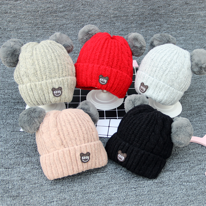 Hat Average size Beige pink red gray black 1-12 years old neutral Headgear other Other / other Good hood Winter of 2018