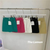 skirt Summer 2021 S,M,L Short skirt commute High waist A-line skirt Solid color 18-24 years old 51% (inclusive) - 70% (inclusive) other other Korean version