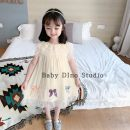 Dress Dress, skirt female Other / other 90cm,100cm,110cm,120cm,130cm,140cm,150cm Cotton 70% other 30% summer Europe and America 2 years old, 3 years old, 4 years old, 5 years old, 6 years old, 7 years old, 8 years old