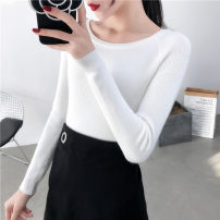 sweater Winter of 2018 S M L XL Black white light grey Beige turmeric Pink Long sleeves Socket singleton  Regular other 95% and above One word collar Regular Sweet routine Solid color Self cultivation Regular wool Keep warm and warm 18-24 years old promise Other 100% Pure e-commerce (online only)