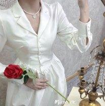 Dress Autumn of 2019 white S, M