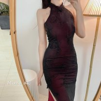 cheongsam Spring 2021 S, M Picture color, long sleeve, picture color, sleeveless