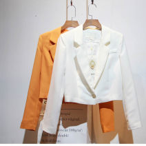 short coat Autumn of 2018 S,M,L,XL White, orange