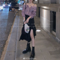 skirt Spring 2021 S. M, l, s pre 7-9 working days, Zhuang code, m pre 7-9 working days, l pre 7-9 working days black Mid length dress Versatile High waist Cake skirt Solid color Type A 25-29 years old SK21040080 51% (inclusive) - 70% (inclusive) other Other / other other Lace