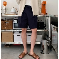Casual pants Others Youth fashion Black, ginger, cream, dark blue M, L Shorts (up to knee) Other leisure easy
