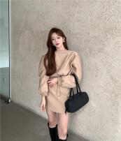 Fashion suit Winter 2020 S. M, average size Short dress 96% and above cotton