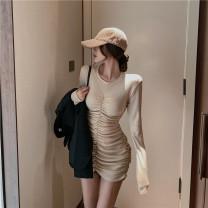 Dress Autumn 2020 Apricot, grey, black Average size