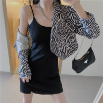 Fashion suit Spring 2021 Average size Suspender skirt, zebra coat 25-35 years old 8607#@@