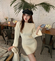 Dress Spring 2021 Picture color Average size Middle-skirt singleton  Long sleeves High collar other 18-24 years old 99533#
