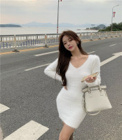 Wool knitwear Winter 2020 Average size White, black Long sleeves singleton  Socket cotton More than 95% have cash less than that is registered in the accounts thickening Sweet Self cultivation V-neck routine Socket