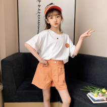 T-shirt Yellow Hanfan smile T-shirt, green Hanfan smile T-shirt Rabbit treasure warm 120cm,130cm,140cm,150cm,160cm,170cm female summer Short sleeve Crew neck Korean version There are models in the real shooting nothing cotton smiling face Cotton 100% SY0222 Class B Sweat absorption Chinese Mainland