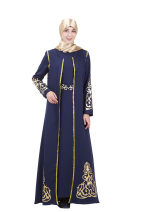 Dress Spring of 2019 Black, army green, dark blue, red M,L,XL,2XL Mid length dress Long sleeves commute Crew neck middle-waisted Solid color other routine Breast wrapping 25-29 years old Type A ethnic style printing 81% (inclusive) - 90% (inclusive) other polyester fiber