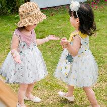 Dress Pink yellow female Angel Pilu 80cm 90cm 100cm 110cm 120cm Cotton 100% summer other Skirt / vest other cotton A-line skirt JX028 Class A Spring of 2019 12 months 6 months 9 months 18 months 2 years 3 years 4 years 5 years old Chinese Mainland