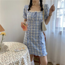 Dress Summer 2020 The sky is blue S M Middle-skirt 18-24 years old Amy it girl A6020 More than 95% other Other 100% Pure e-commerce (online only)