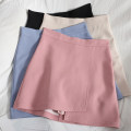 skirt Spring 2021 S,M,L,XL Black, apricot, blue, pink Short skirt Versatile High waist A-line skirt Solid color Type A 18-24 years old 71% (inclusive) - 80% (inclusive) other