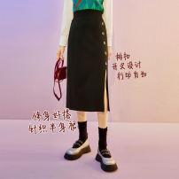 skirt Winter 2020 S M L XL Modern black Middle-skirt Natural waist A-line skirt Cartoon animation Type H ASS060 More than 95% Seenfaan / in full bloom hemp Flax 100%