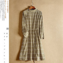 Dress Spring 2021 Picture color S. M, l, XL, beautiful belt, elegant dress Mid length dress Long sleeves Decor Socket 18-24 years old Frenulum XC-8241-AWY-J More than 95% other