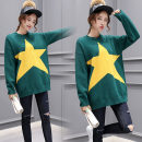 sweater Spring 2021 One size fits all, trendy top goods, fashion boutique star sweater Dark green, orange Socket singleton  Regular other 95% and above XC-713-LDM-J