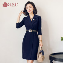 Fashion suit Autumn 2020 S,M,L,XL,XXL Navy Blue 25-35 years old AI Shangchen Q234 96% and above polyester fiber