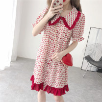 Dress Summer 2021 Black, cherry red S,M,L,XL Short sleeve