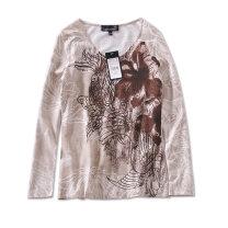 T-shirt Coffee print, blue print Xs, l, XL, M / medium sleeve cotton 86% (inclusive) -95% (inclusive)