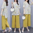 Fashion suit Summer 2021 M,L,XL,XXL,XXXL Yellow two piece set
