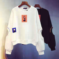 Sweater / sweater Spring 2021 Average size Long sleeves routine Socket singleton  routine Crew neck easy commute routine Cartoon animation 18-24 years old 96% and above Korean version Hollowed out, stitched