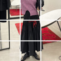 skirt Winter 2020 XS,S,M,L,XL,2XL Red, blue, black Mid length dress street OG034867 Europe and America