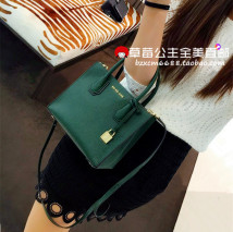 Bag The single shoulder bag cowhide Small square bag Michael Kors brand new European and American fashion Small leisure time soft Exposure no Yes youth