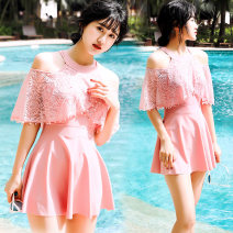 one piece  Junfei XL recommendation 85-105 kg 2XL recommendation 105-122 kg Pink Skirt one piece With chest pad without steel support Spring of 2019 female