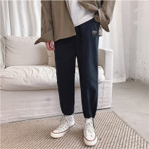 Casual pants Others Youth fashion Green, black, apricot M,L,XL,2XL Ninth pants Other leisure easy N3-26-A990 teenagers tide stripe cotton