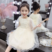Dress female Other / other Other 100% summer Korean version Short sleeve Solid color other Lotus leaf edge Class B 2, 3, 4, 5, 6, 7, 8, 9, 10, 11, 12 years old Chinese Mainland