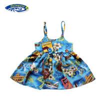 Dress Blue violin d9257 female Palm wave 6-12M (suitable for 80-90cm) 2 (suitable for 90-100cm) 4 (suitable for 100-110cm) 6 (suitable for 110-120cm) 8 (suitable for 120-130cm) Viscose (viscose) 100% summer princess Skirt / vest other Sticky cotton Strapless skirt R21-D9257 Class B Spring of 2019