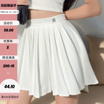 skirt Autumn 2020 S,M,L White (including lining), black (including lining) Short skirt Versatile High waist Pleated skirt Solid color Type A 18-24 years old EUD1647W0D 91% (inclusive) - 95% (inclusive) polyester fiber Embroidery