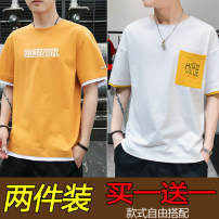 T-shirt Youth fashion routine M,L,XL,2XL,3XL Others Short sleeve Crew neck easy daily summer teenagers routine tide 2020 Alphanumeric printing No iron treatment