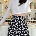 skirt Summer 2021 XXS,XS,S,M,L Black Medium skirt [68cm], black long skirt [78cm] Mid length dress Versatile High waist A-line skirt Decor Type A 18-24 years old 30% and below Chiffon cotton printing