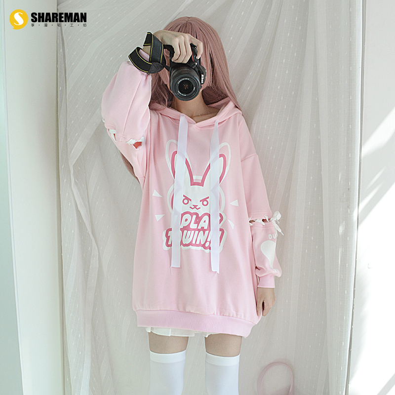 Cartoon T-shirt / Shoes / clothing Sweater Over 14 years old Watch the vanguard Pre sale [pre sale] [delivery on August 22] One size fits all Winter and Autumn U.S.A female Enjoy Lovely Japanese Street cotton