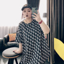 Women's large Spring 2021 black Large XL, large XXL, large XXL, large 4XL T-shirt singleton  commute easy moderate Socket Short sleeve other Korean version Crew neck routine Others, polyester Three dimensional cutting other 25-29 years old 96% and above