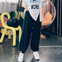 Women's large Spring 2021, summer 2021 Black, blue, gray, yellow Large XL, large XXL, large XXL trousers singleton  commute easy moderate other Korean version Others, cotton 25-29 years old trousers