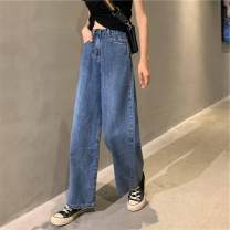 Jeans Spring 2020 blue S,M,L trousers 18-24 years old Dark color Z518