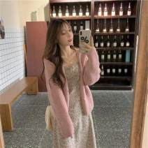 Fashion suit Autumn 2020 Average size Pink sweater 1057, green sweater 1057, pink suspender skirt 9782, green suspender skirt 9782 18-25 years old sgz229 30% and below