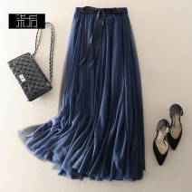 skirt Spring of 2019 XL,L,M,S Mid length dress grace High waist A-line skirt