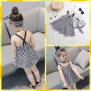 Dress As shown in the picture female Other / other Organic cotton summer Korean version Skirt / vest lattice Cotton blended fabric Class B 18 months, 2 years old, 3 years old, 4 years old, 5 years old, 6 years old, 7 years old, 8 years old