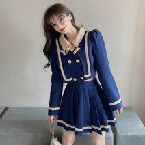 Fashion suit Spring 2020 S,M,L Blue suit, white suit 18-25 years old