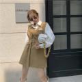 Fashion suit Spring 2021 Average size Khaki Skirt, black skirt, white shirt 18-25 years old