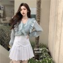 Fashion suit Spring 2021 S. M, average size Shirt, skirt 18-25 years old D0320