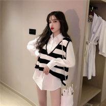 Fashion suit Spring 2020 Average size White shirt, vest, white shirt + vest 18-25 years old Other / other 8/25