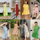 Dress Summer 2021 Starting from 10 pieces (multi-color and multi style mixed batch), 20 pieces (multi-color and multi style mixed batch), 50 pieces (multi-color and multi style mixed batch), 100 pieces (multi-color and multi style mixed batch), 100000 pieces (multi-color and multi style mixed batch)