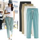 Casual pants M,L,XL,2XL,3XL,4XL,5XL,6XL Summer of 2019 trousers Haren pants High waist commute Thin money 18-24 years old 71% (inclusive) - 80% (inclusive) cotton Korean version Three dimensional cutting cotton