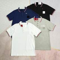 Polo shirt Other / other Youth fashion routine M,L,XL,2XL Extra wide go to work summer Short sleeve tide routine youth